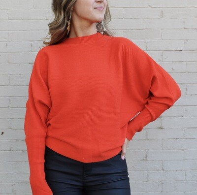 Persimmon Ribbed Sweater