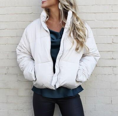 Moth Gray Puffer Jacket
