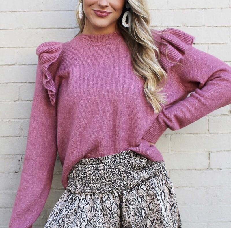 Mauve Flutter Sweater