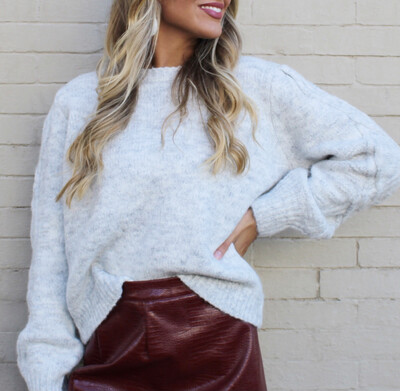Barely Gray Cable Sweater