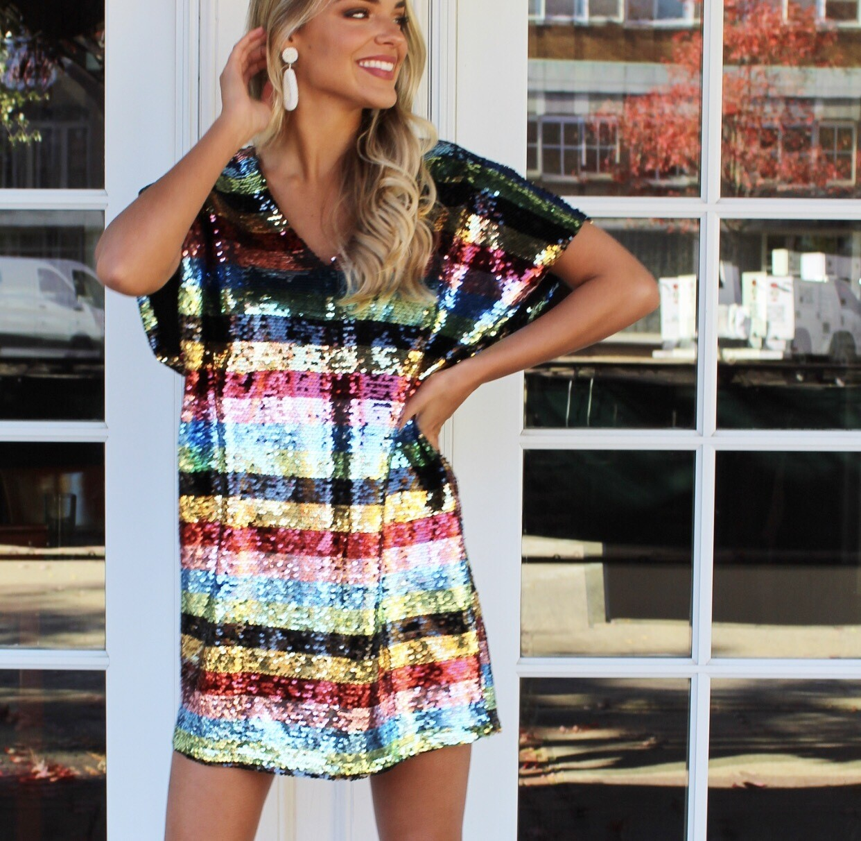 Rainbow Bright Sequin Dress