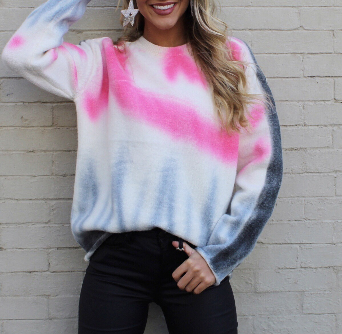 Tie Dye Holiday Sweater