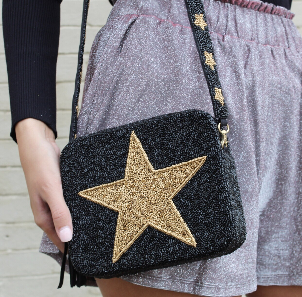 Preorder Black And Gold Star Crossbody | 3-4 Weeks Ship Time|