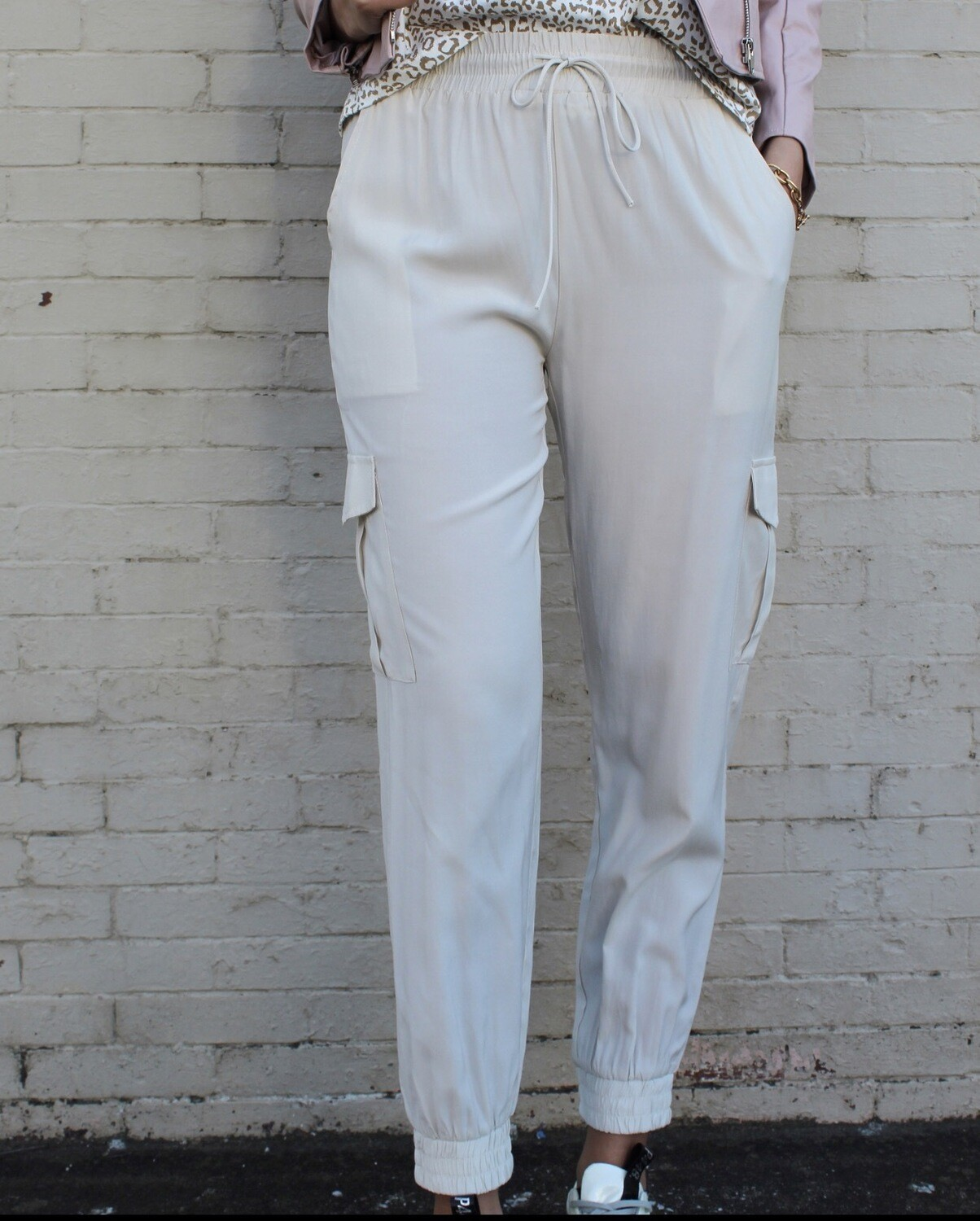 Ivory Silky Joggers