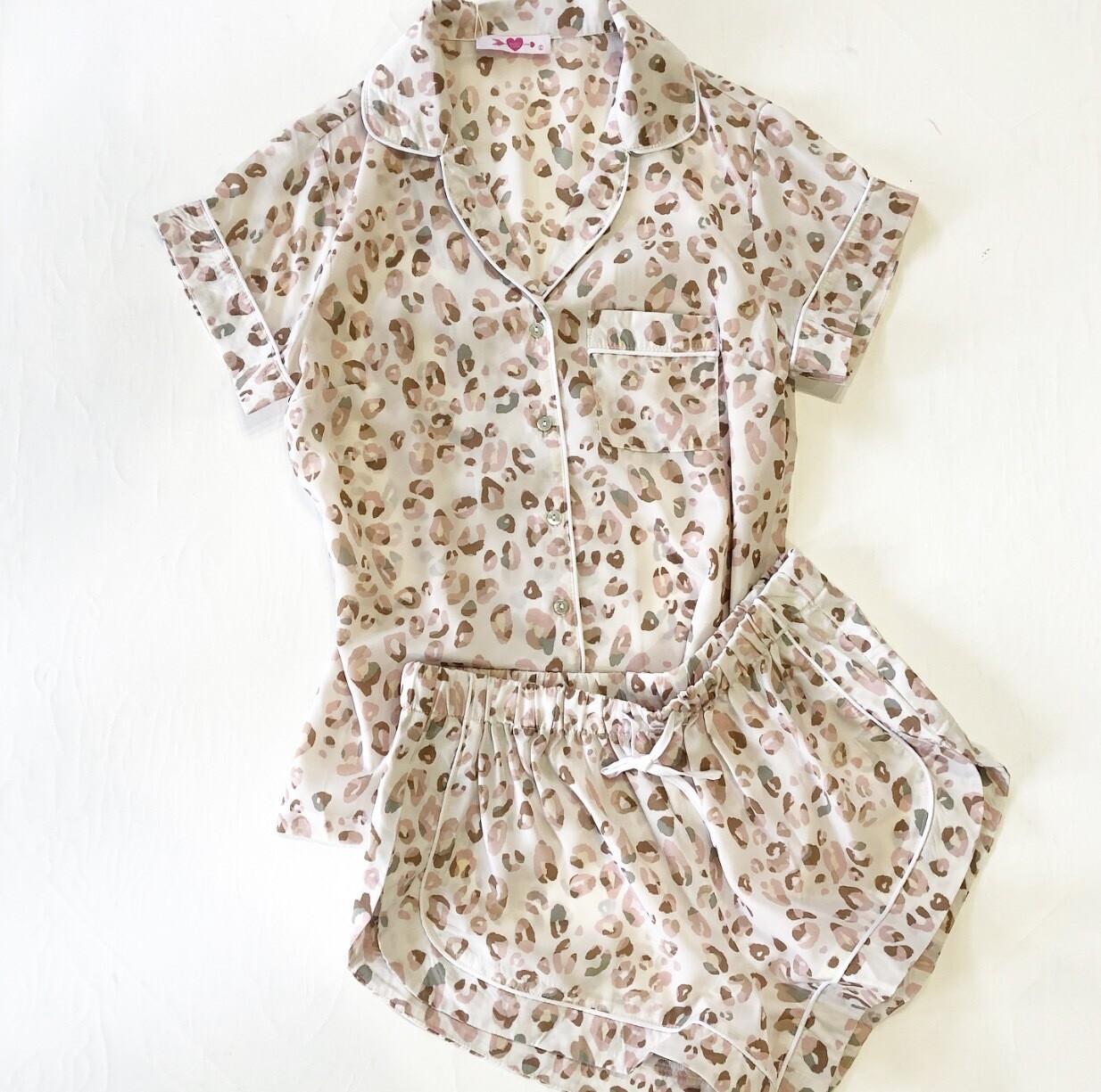 Gold Lion Pajama Set
