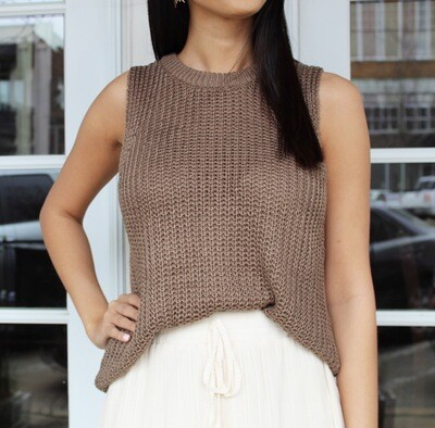 Taupe Open Knit Sweater