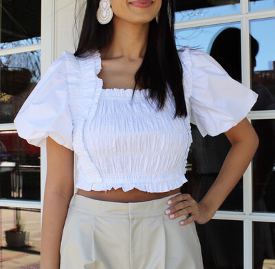 Cloud Pleated Top