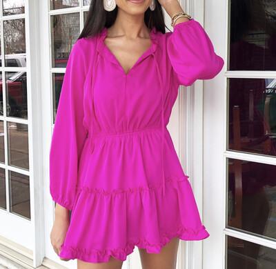 Magenta Layer Dress