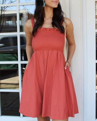 Terracotta Swing Dress