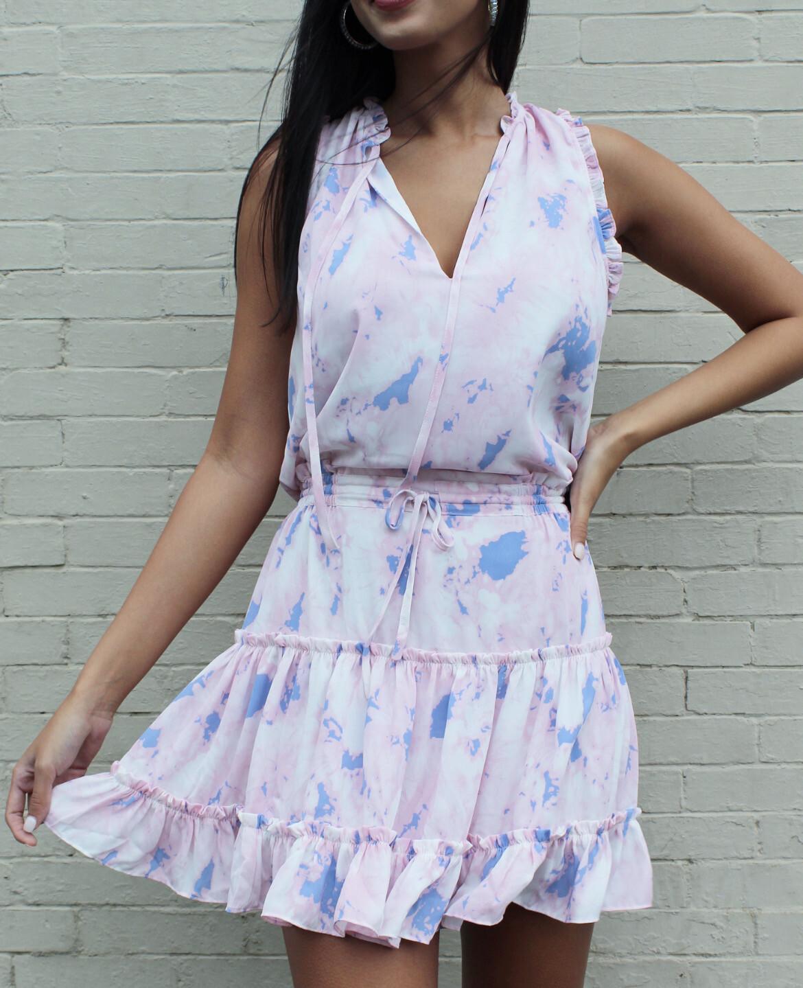 Wisteria Peasant Dress