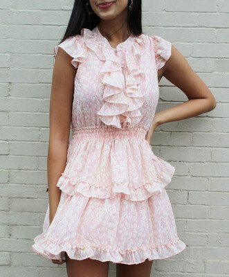 Peach Bubbles Dress
