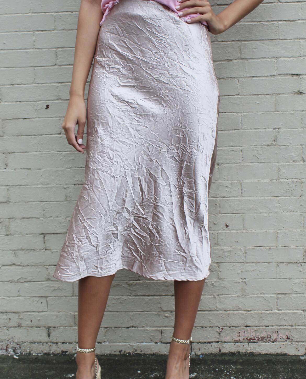Champagne Midi Skirt