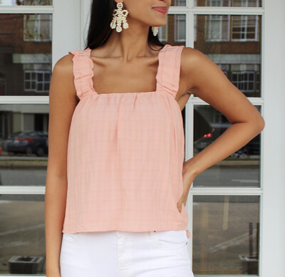 Just Peachy Ruffle Top