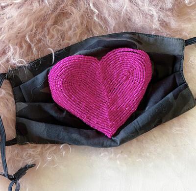 Camo Heart Mask