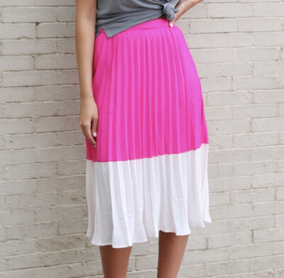 Colorblock Midi Skirt
