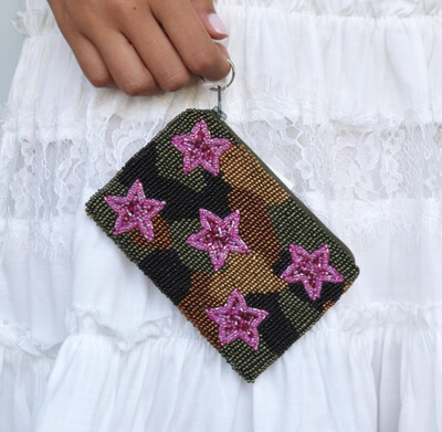 Camo Star Coin Purse