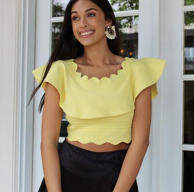 Citron Ruffle Knit