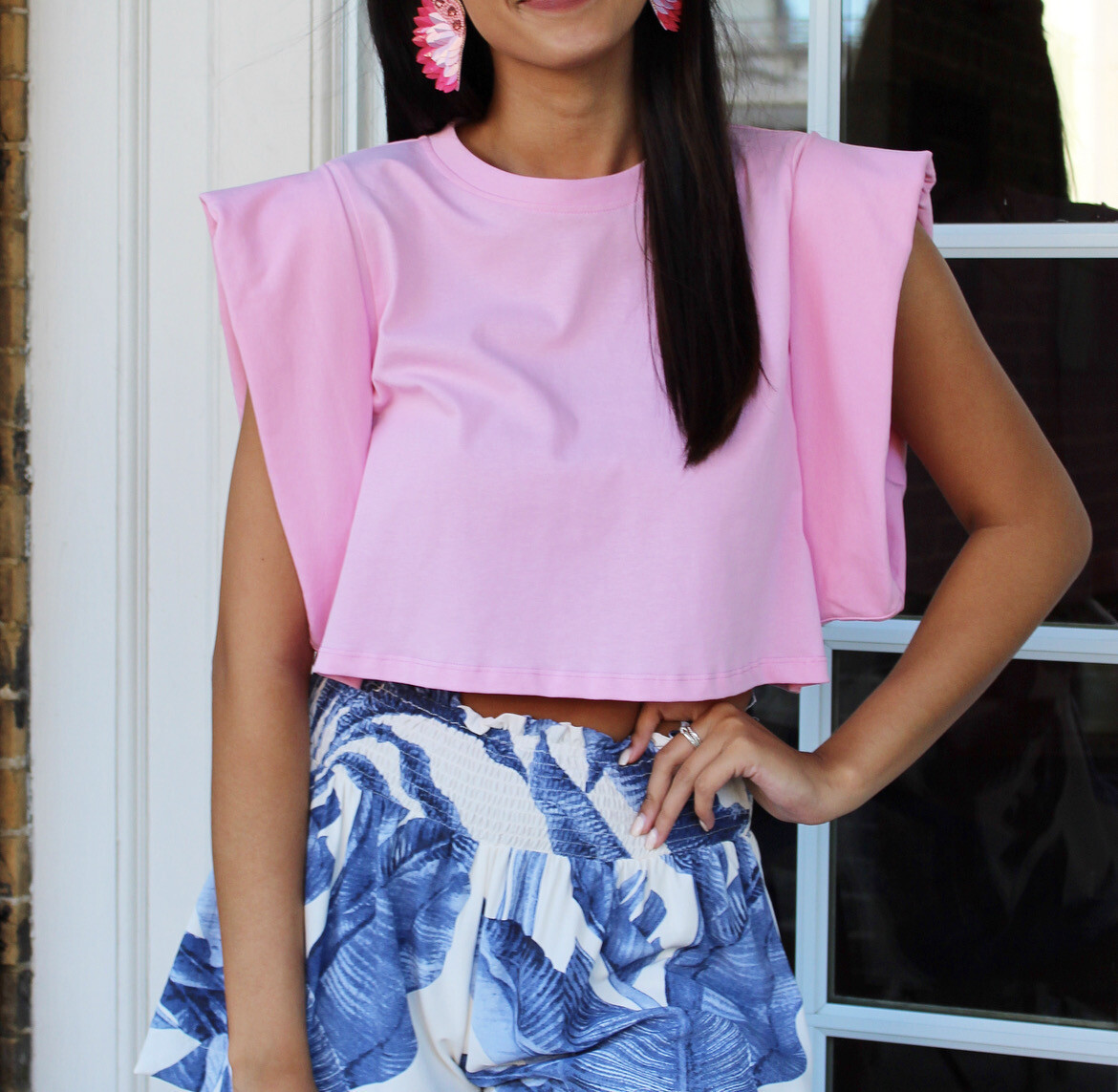 Candy Pink Cropped Tank