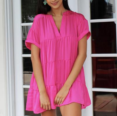 Fuchsia Babydoll Dress