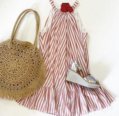 Beach Cabana Stripe Dress