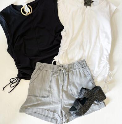 Grey Chambray Short