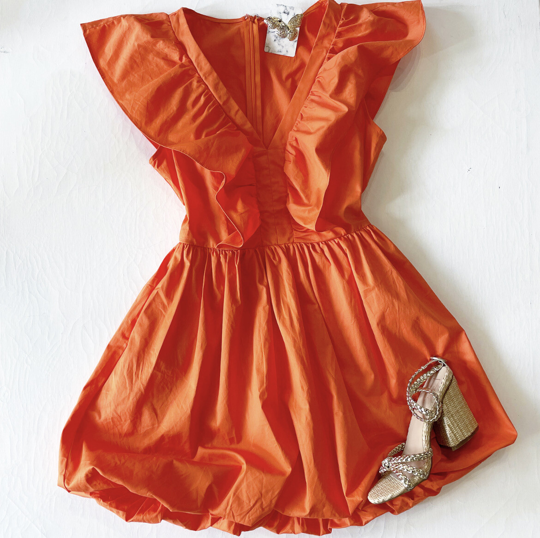 Orange Grove Bubble Dress