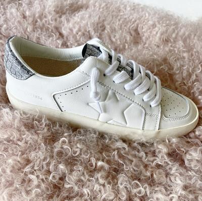 White Glitter Sneaker