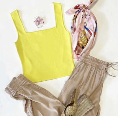 Lemon Twist Knit Cami
