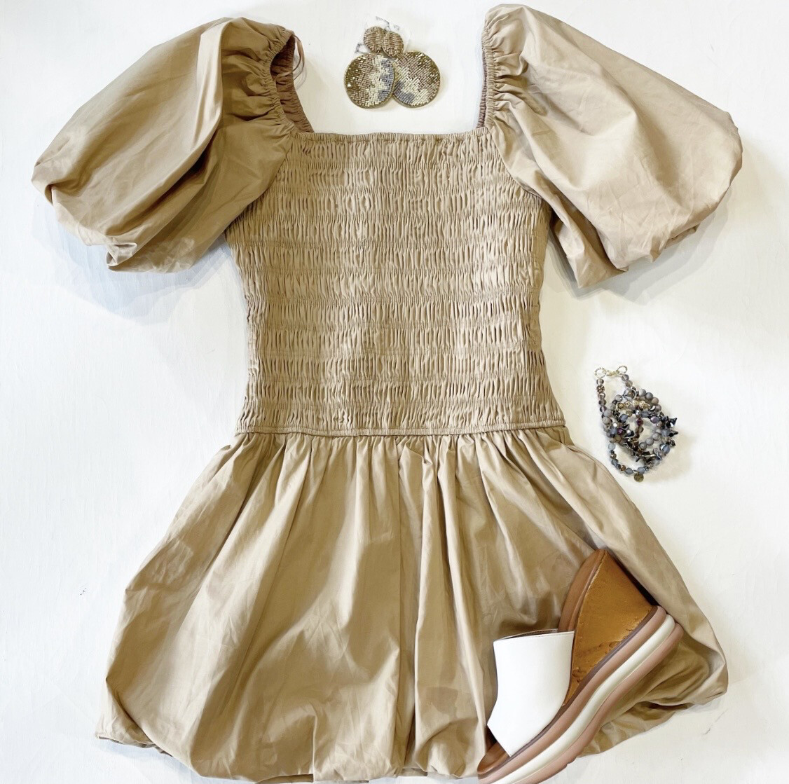 Carmel Smocked Dress