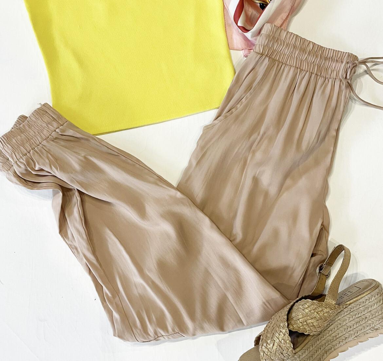 Nude Silky Joggers