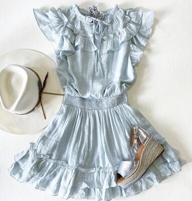 Blue Skies Peasant Dress