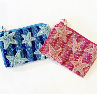 Pink Shooting Star Coin Purse