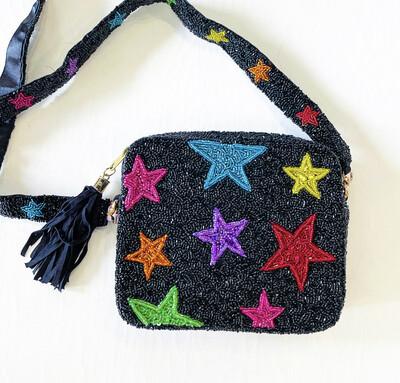 Rainbow Star Crossbody (black)