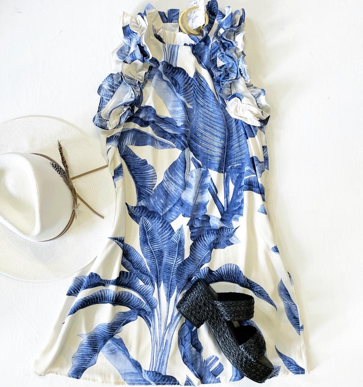 Panama Ruffle Shift Dress
