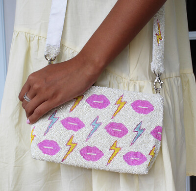 Preorder Lip Service Beaded Bag (3-4 Weeks Ship Time)