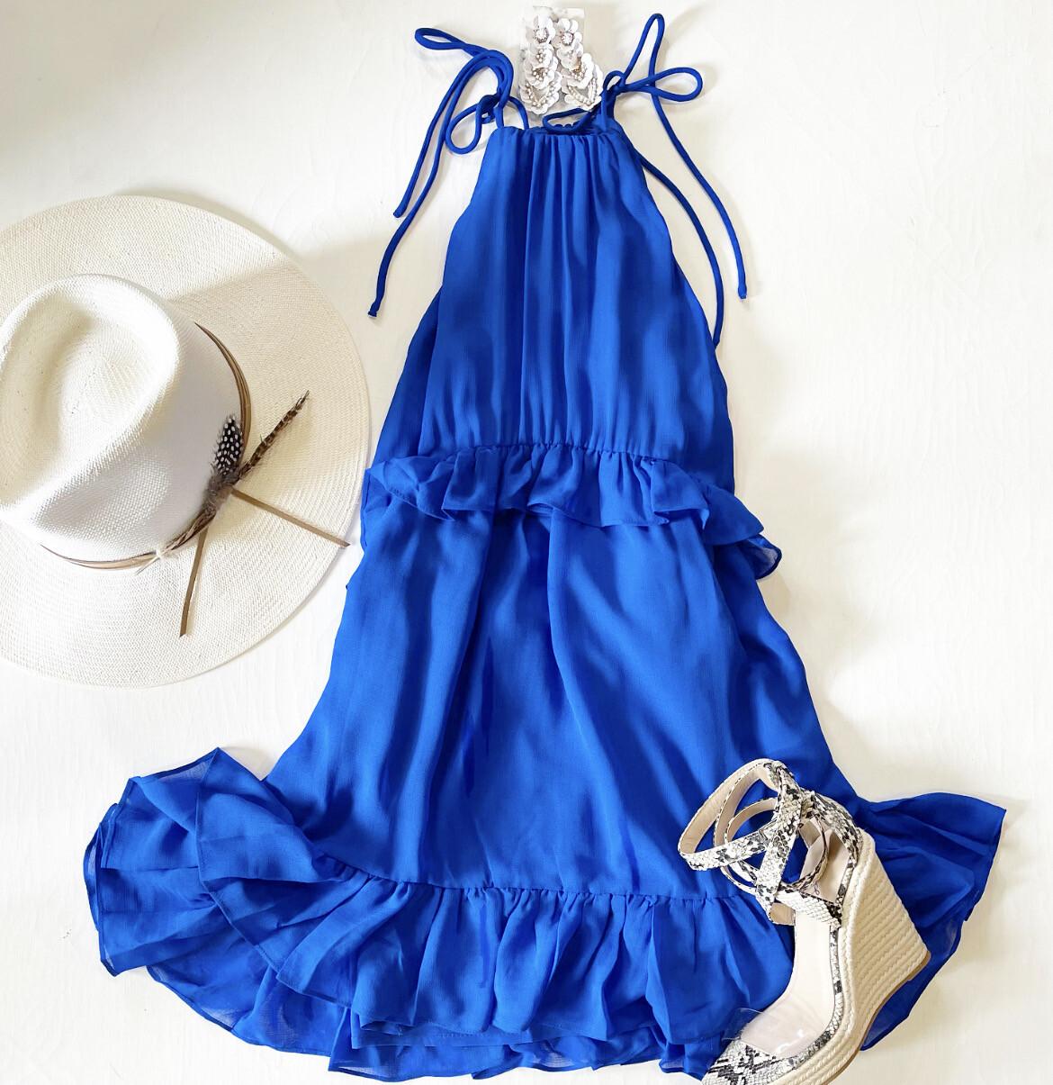 Cobalt Swing Dress