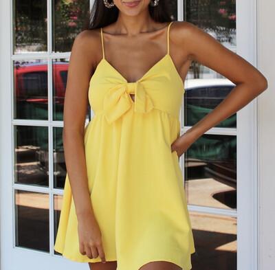 Ahoy Dress In Lemon