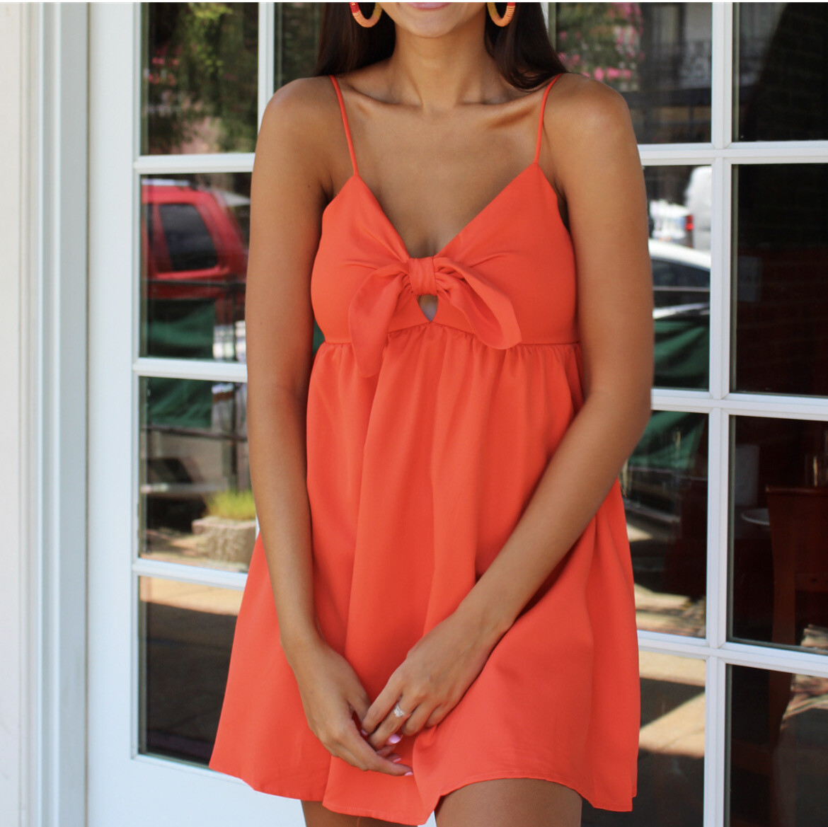 Ahoy Dress In Coral