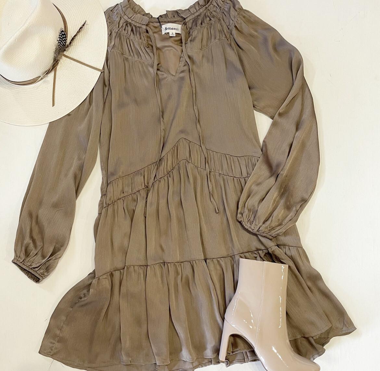 Mocha Mama Silky Dress