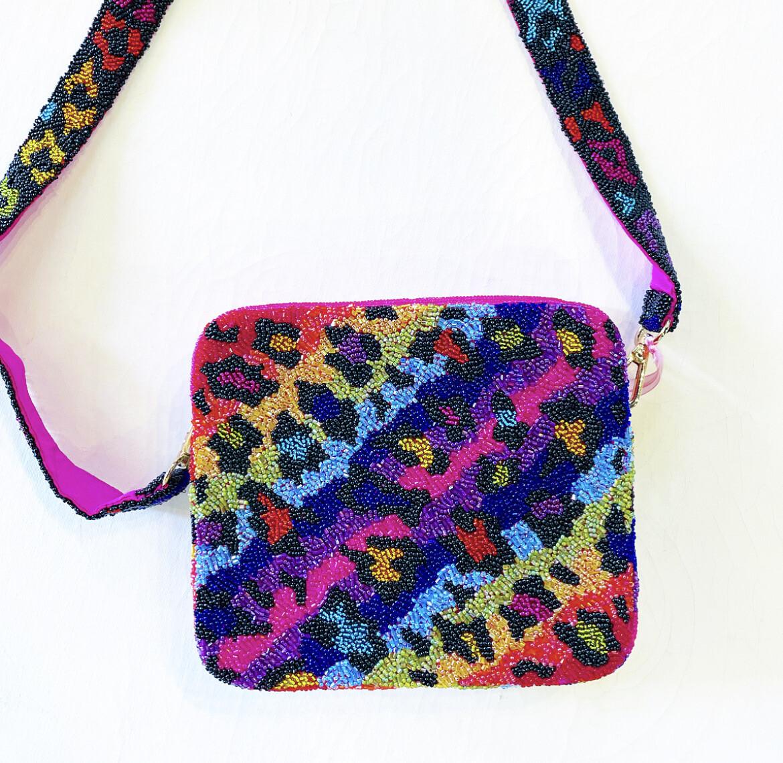 Rainbow Leopard Crossbody