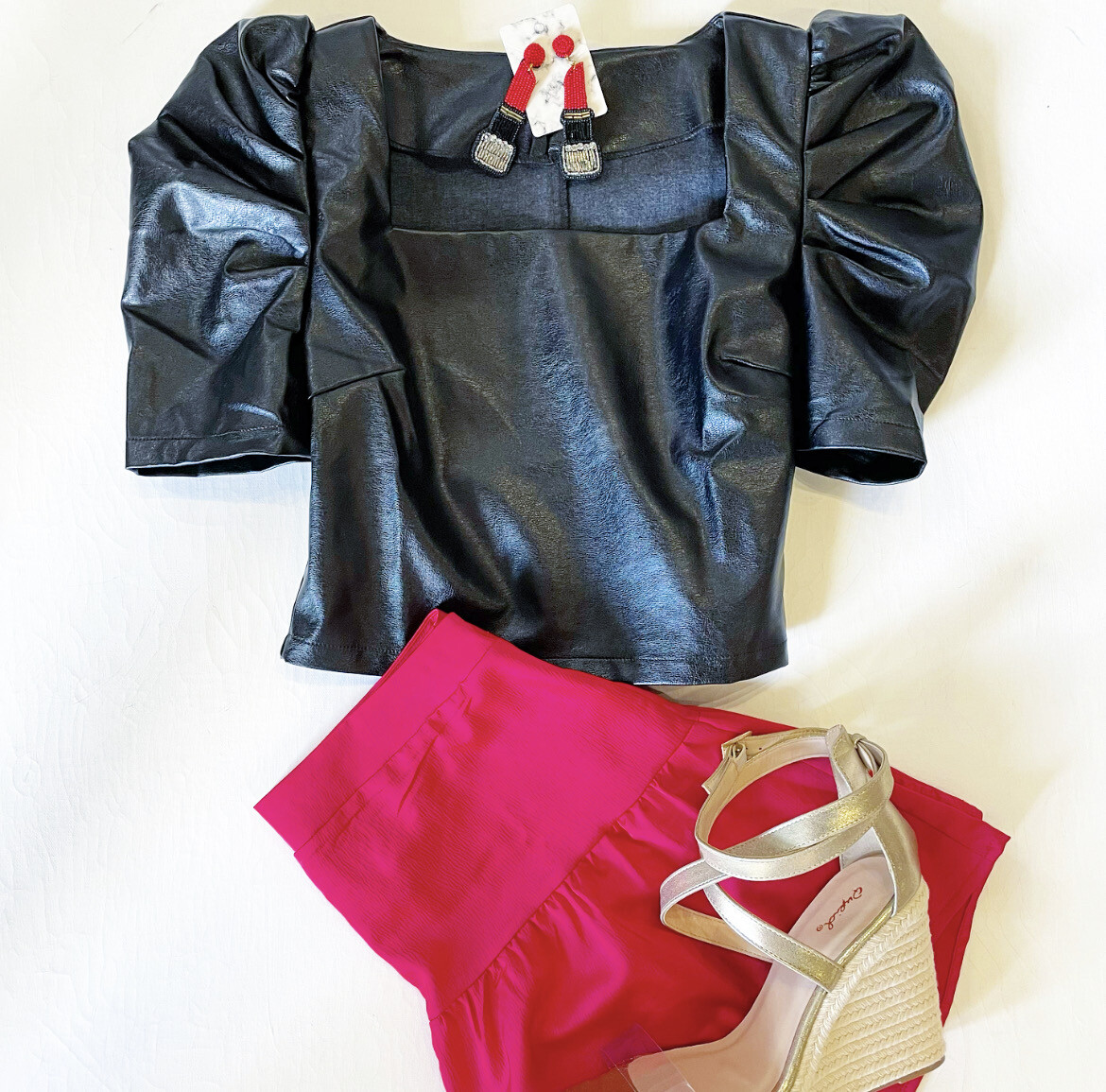 Faux Leather Gameday Top