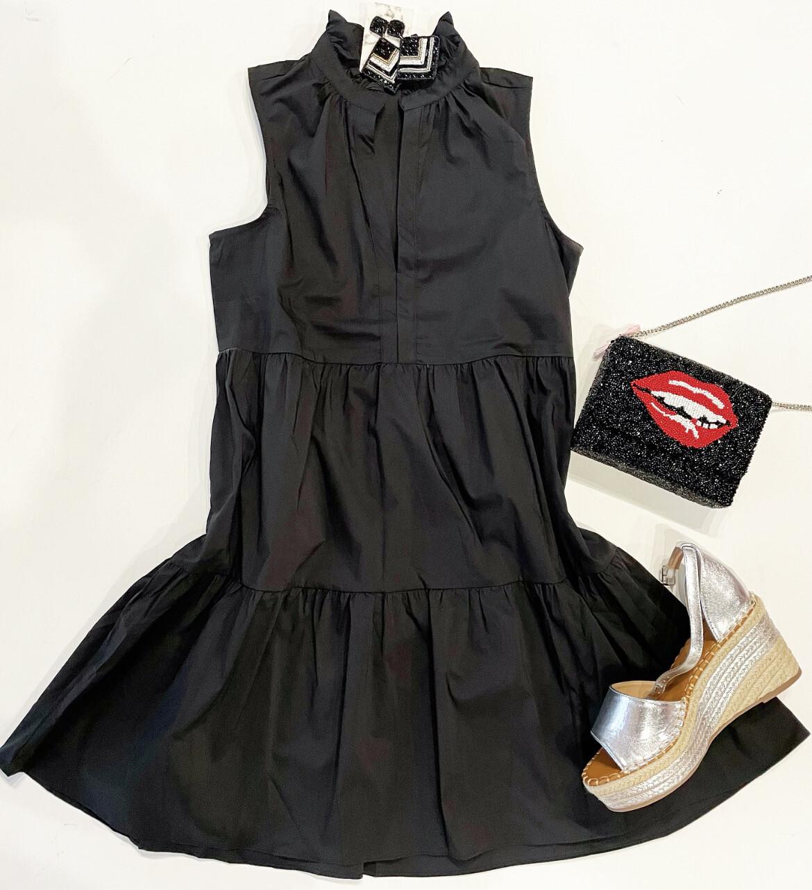 Vneck Crepe Dress