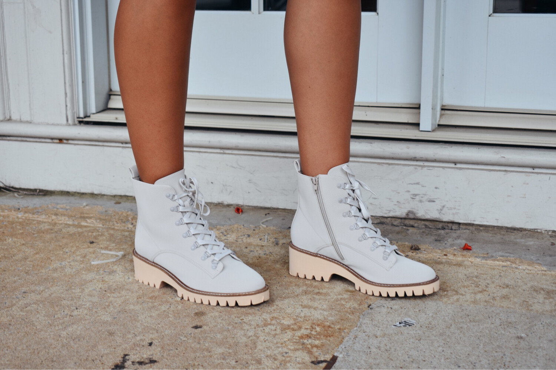 Soft Gray Combat Boots