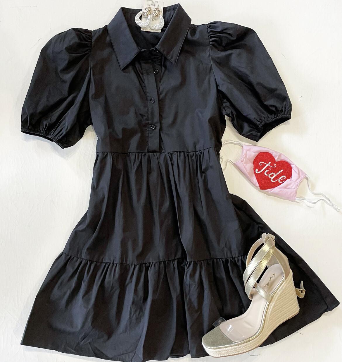 Collar Baby Doll Dress
