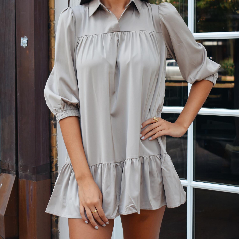 Moth Gray Mini Dress