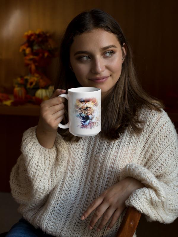 Lioness Roar Andrew Martin Collection 15oz Coffee Mug