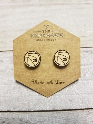 Customizable Basketball Earrings