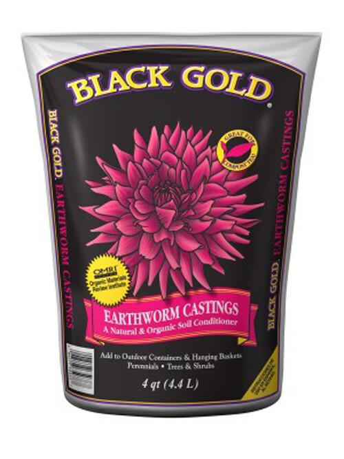 Black Gold Earthworm Castings  8 qt. bag