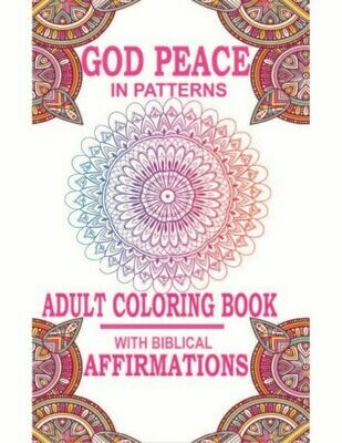 God Peace Adult Affirmation Coloring Book