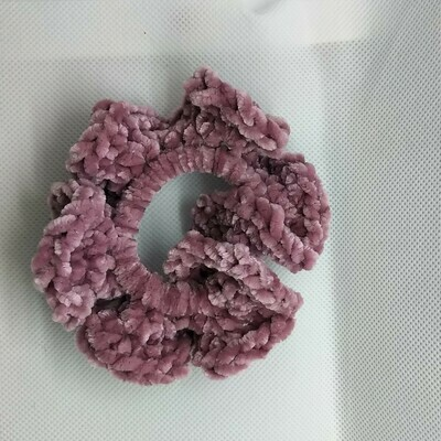Yarn Scrunchie - Pink, Small